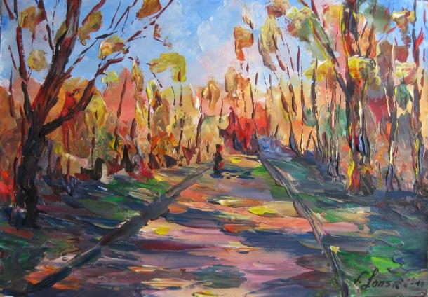 Landschaft, Malerei, Weg