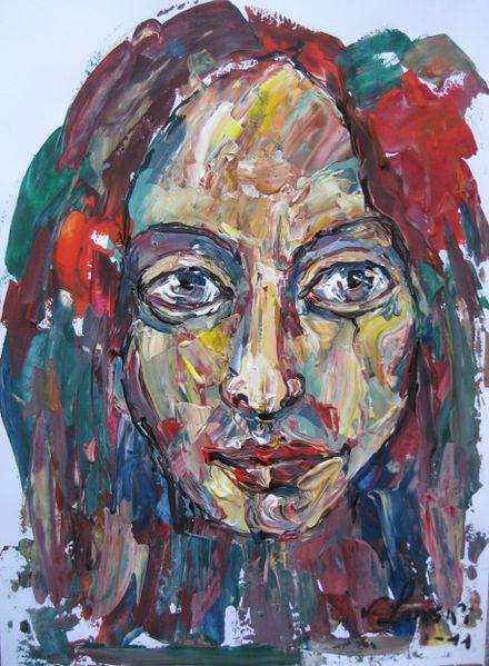 Malerei, Menschen, Mädchen,