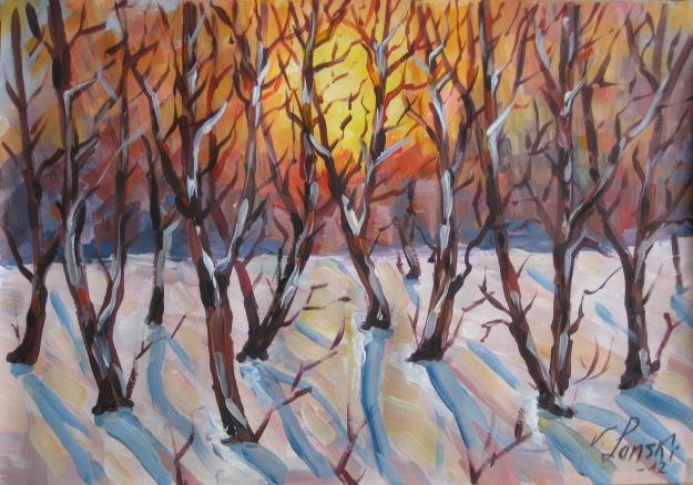 Landschaft, Malerei, Tag, Sonnig