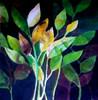 Blätter, Malerei