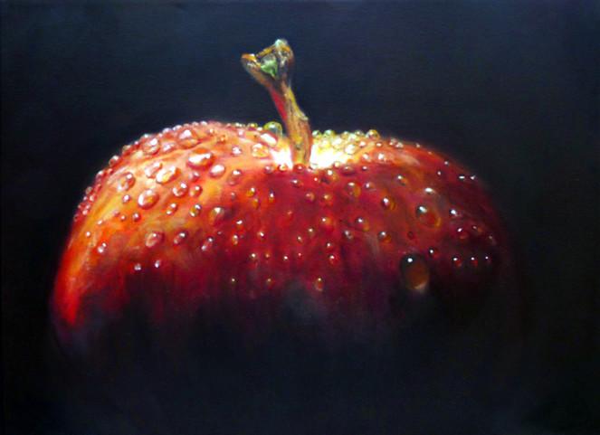 Stillleben, Tropfen, Acrylmalerei, Ölmalerei, Apfel, Malerei