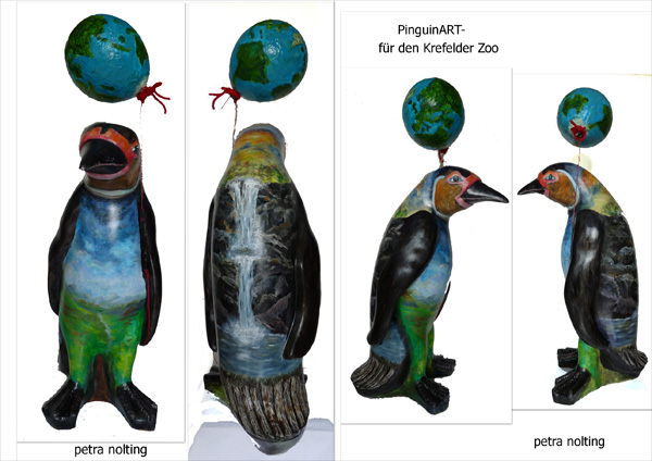 Pinguin, Zoo, Plastik