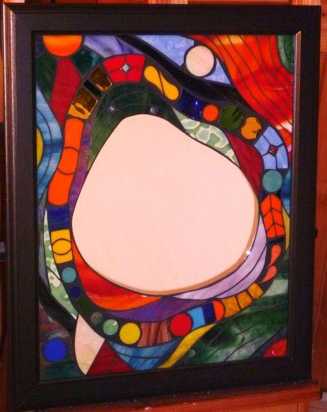 Mosaikspiegel, Kunstspiegel, Jürgen traulsen, Tiffanyglas, Kunsthandwerk, Glas