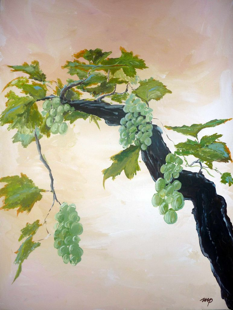 Kunstnet werke malerei pflanzen weinstock