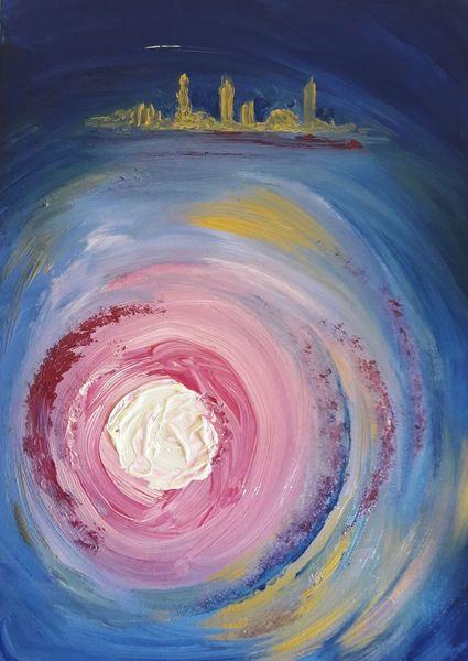 Malerei, Abstrakt, Licht