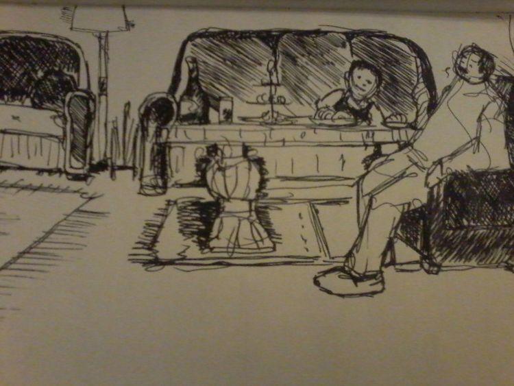 Abend, Gedankenmalerei, Sylvester, Illustrationen, Lama