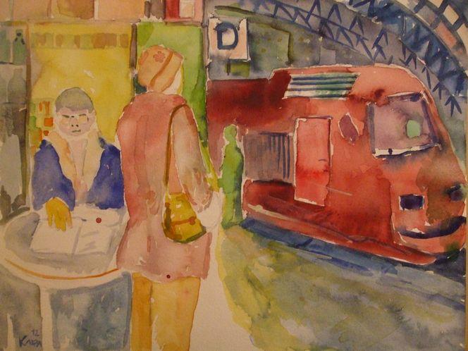 Nachts im hauptbahnhof, Malerei