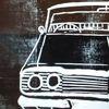 Chevrolet, Linoldruck, Oldtimer, Auto