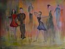Tanz, Mai, Menschen, Malerei