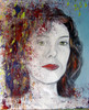 Verstört, Portrait, Frau, Malerei