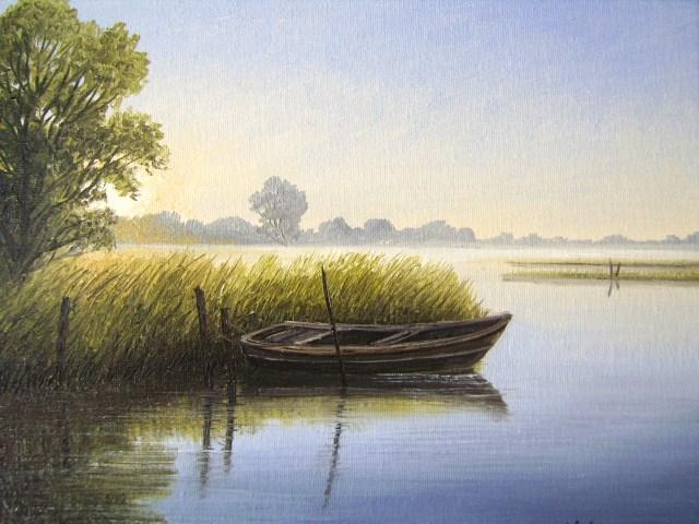 Weite, Friesland, Moor, Ostfriesland, See, Malerei