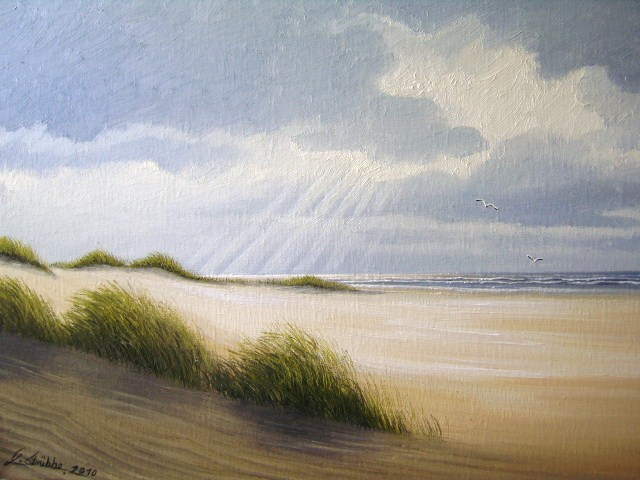 Insel, Spiekeroog, Meer, Nordsee, Wasser, Malerei