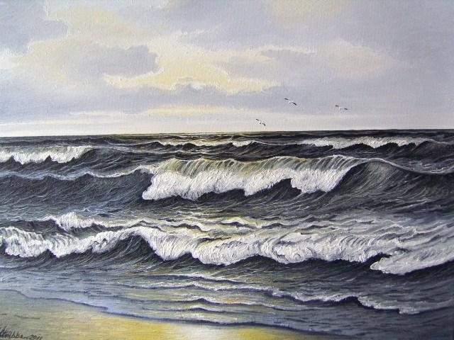 Stimmung, Ostfriesand, Nordsee, Möwe, Malerei