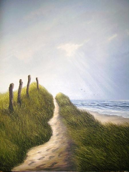 Wasser, Ölmalerei, Nordsee, Malerei, Gewitter,