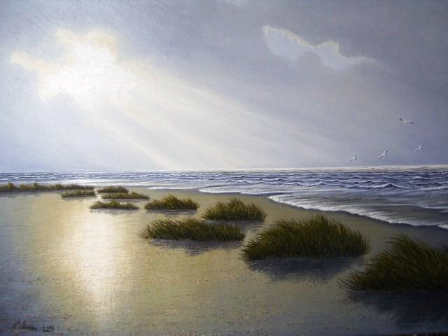 Ostfriesand, Stimmung, Nordsee, Malerei