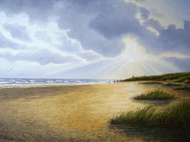 Dünen, Stimmung, Stehen, Wasser, Insel, Nordsee