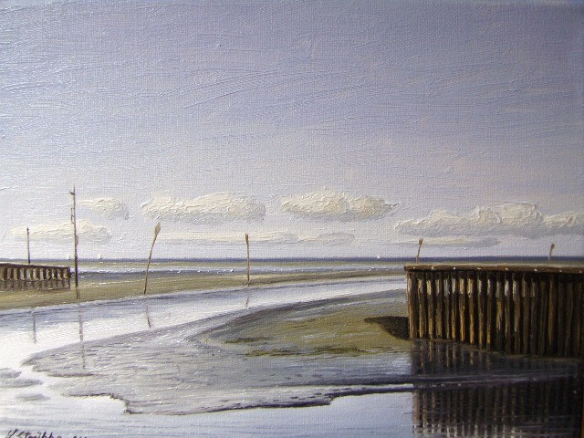 Horumersiel, Strübbe, Wangerland, Friesland, Malerei, Priel
