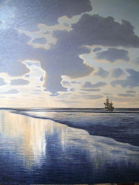Ostfriesland, Meer, Stimmung, Wasser, Kutter, Küste