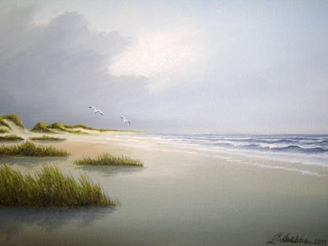 Spiekeroog, Dünen, Nordsee, Malerei