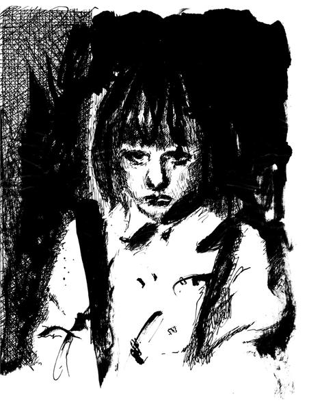 Hosenträger, Emotion, Schwarzweiß, Kind, Portrait, Traurig