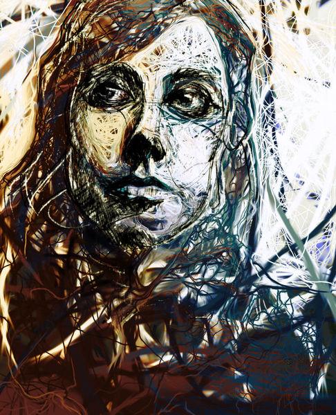 Augen, Linie, Pj harvey, Portrait, Malerei