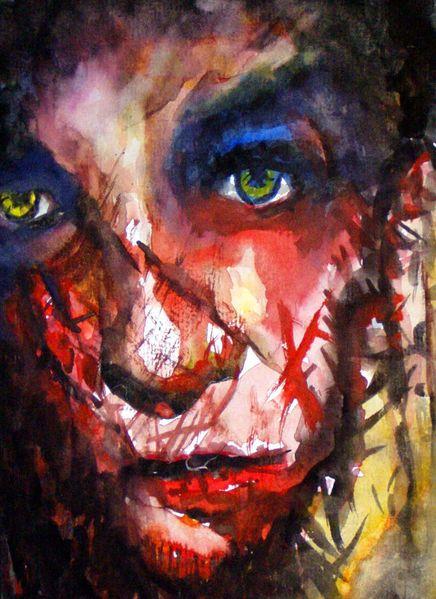 Aquarellmalerei, Portrait, Malerei