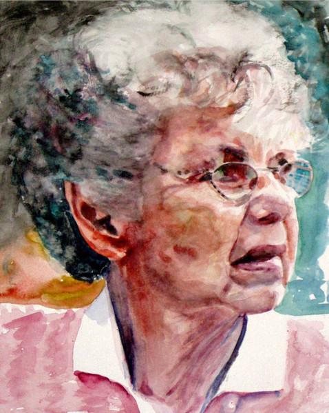 Aquarellmalerei, Lage, Portrait, Zeichnungen, Frau,