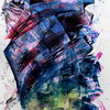 Abstrakt, Zeichen, Farben, Acrylmalerei
