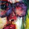 Blick, Frau, Farben, Gesicht