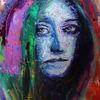 Gesicht, Farben, Blick, Abstrakt
