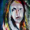 Frau, Expressionismus, Gesicht, Farben
