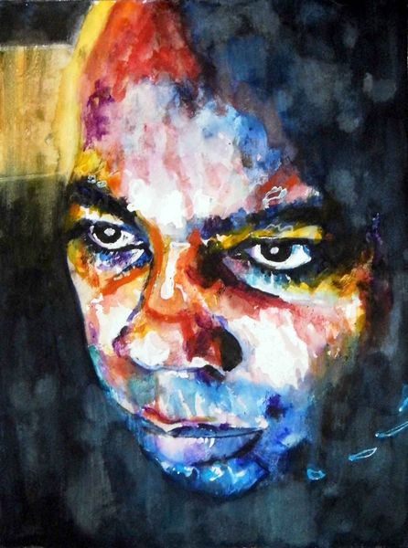 Augen, Blick, Aquarellmalerei, Portrait, Mann, Ausdruck