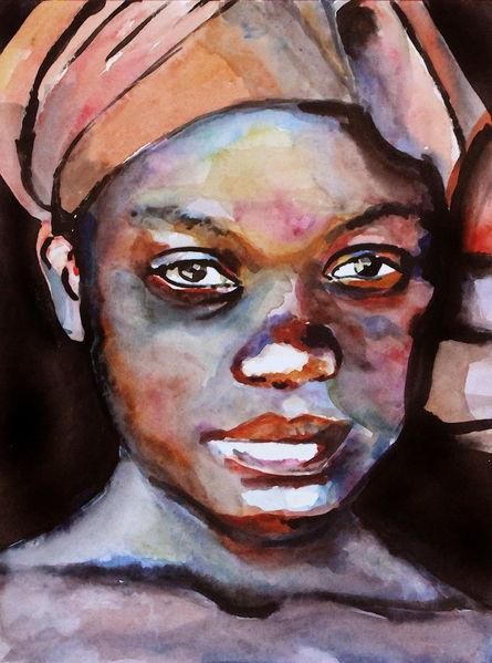 Frau, Blick, Gesicht, Ausdruck, Portrait, Farben