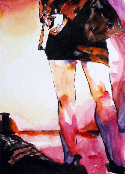 Tod, Aquarellmalerei, Waffe, Malerei, Schluss