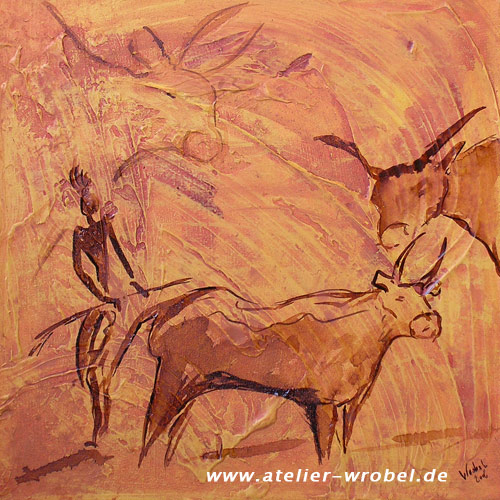 Malerei, Prähistorisch, Jagd, Höhlenmalerei, Caveart