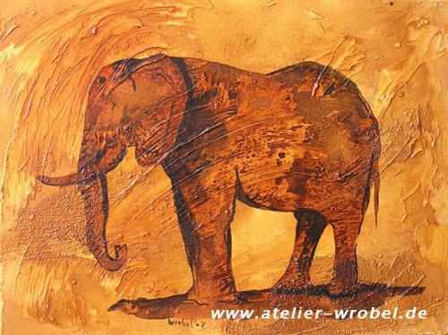 Jagd, Caveart, Elefant, Prähistorisch, Malerei, Höhlenmalerei