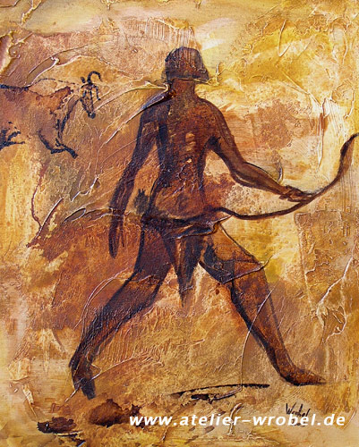 Jagd, Caveart, Malerei, Prähistorisch, Höhlenmalerei
