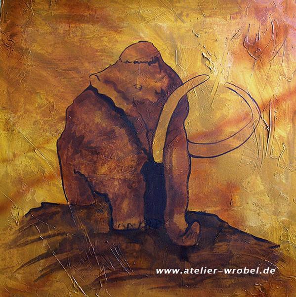 Caveart, Jagd, Mammut, Prähistorisch, Malerei, Höhlenmalerei
