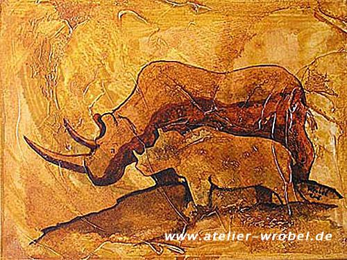 Nashorn, Prähistorisch, Tiere, Malerei, Caveart, Jagd
