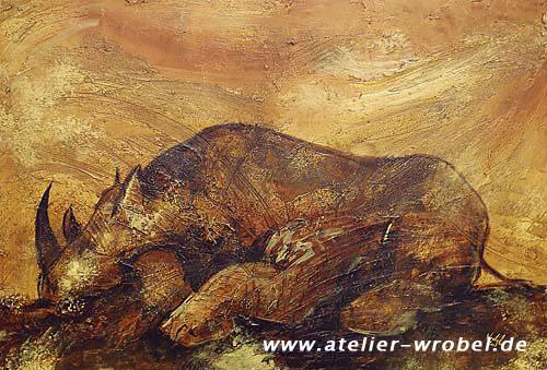 Höhlenmalerei, Nashorn, Malerei, Caveart, Jagd, Prähistorisch