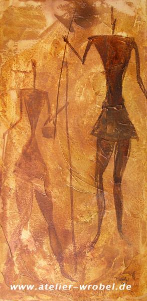 Prähistorisch, Caveart, Höhlenmalerei, Malerei, Jagd