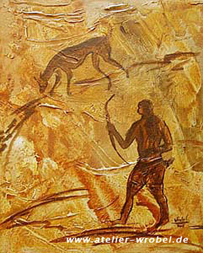 Jagd, Caveart, Prähistorisch, Höhlenmalerei, Malerei