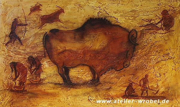 Caveart, Malerei, Prähistorisch, Jagd, Höhlenmalerei