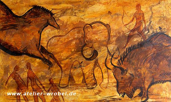 Caveart, Malerei, Jagd, Prähistorisch, Höhlenmalerei
