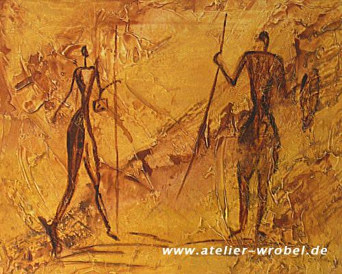Jagd, Prähistorisch, Malerei, Caveart, Höhlenmalerei