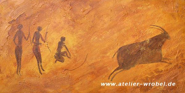 Höhlenmalerei, Caveart, Malerei, Jagd, Prähistorisch