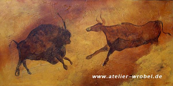 Jagd, Prähistorisch, Höhlenmalerei, Malerei, Caveart