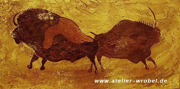 Prähistorisch, Höhlenmalerei, Jagd, Caveart, Malerei