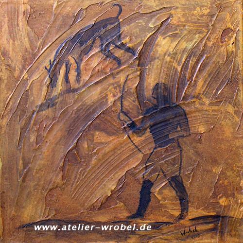 Prähistorisch, Höhlenmalerei, Caveart, Malerei, Jagd