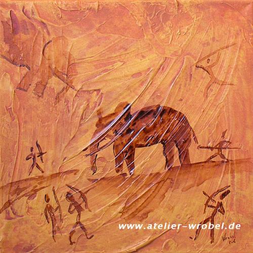 Caveart, Höhlenmalerei, Malerei, Jagd, Prähistorisch